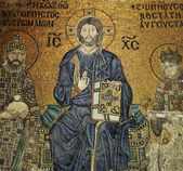 Jesus Christ Mosaic Composition in Hagia Sophia — Stock Photo