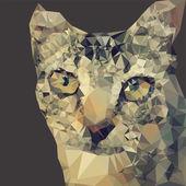 Mosaic cat — Stock Vector