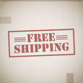 Free shipping cardboard box texture — Vector de stock