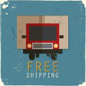 Gratis verzending vrachtwagen — Stockvector