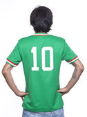 Man back with mexico jersey — Stock Photo