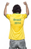 Man with brazil jersey — Stock Photo