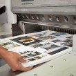 Sheet pulled from printing press — Stock Photo #46353969