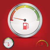 Fuel gauge empty tank — ストックベクタ
