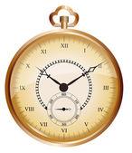 Golden vintage pocket watch — Stock Vector