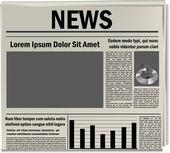Zeitung-symbol — Stockvektor