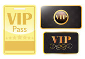 VIP card and pass — Stock Vector