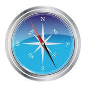 Blue Compass — Stock Vector