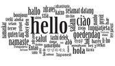 Hello speech cloud — Stock Vector