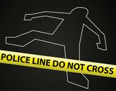 Police line crime scene — Stock Vector