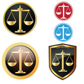 Scales of Justice icon — Stock Vector