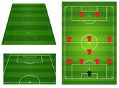 Soccer or football field — Stock Vector
