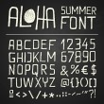 ALOHA SUMER HAND DRAWN FONT - chalkboard — Stock Vector #45146335