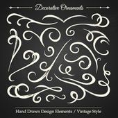 DECORATIVE ORNAMENTS - chalkboard 4 — Stock Vector