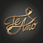 Te Amo ( I love You ) — Stock Vector