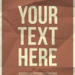 modèle d'affiche sur la texture de papier froissé — Vecteur #45221467