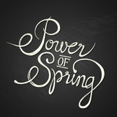 POWER of SPRING - quote on chalkboard — Stock Vector