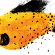 Yellow SPECKLED FISH — Stock Photo #45517329