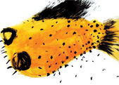 Yellow SPECKLED FISH — Stock Photo