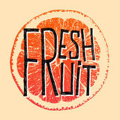 Fresh fruit grapefruit — Vector de stock