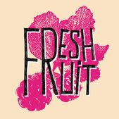 Fresh fruit raspberry — Stock Vector