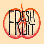 Fresh fruit apple — Stock Vector