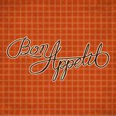 Bon appetit - phrase — Stock Vector