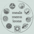 Meals menu elements - icons set 2 — Stock Vector #46128239
