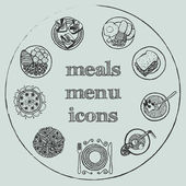 Meals menu elements - icons set 2 — Stock Vector