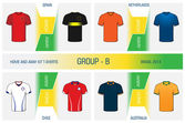 Set of nationals football uniform - group B — Stock Vector