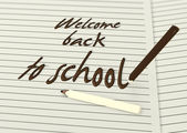 Welcome back to school by chocolate pencils paper — Foto Stock