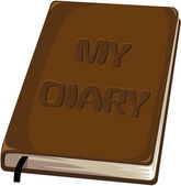 My diary notebook — Stock Vector