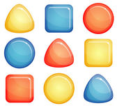 Glass buttons shapes — Stock Vector