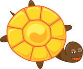 Tortoise with yin-yang — Stock Vector