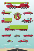 Illustration of different types of vehicles — Vettoriale Stock