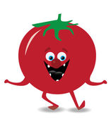 Dancing tomato — Stock Vector