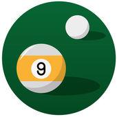 Pool billiard balls illustration — Stock Vector