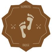 Runners badge — Stockvektor
