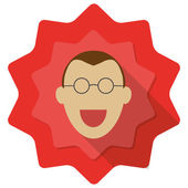 Happy person with glassess — Stock Vector