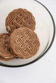 Vanilla cream cookies — Stock Photo