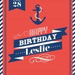 Nautical birthday card — Stock Vector #44894487