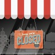 Shopfront closed — Stock Vector