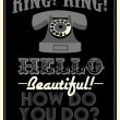 Retro telephone poster — Stock Vector