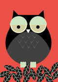 Owl illustration — Stock Vector