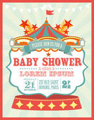 Carnival baby shower invitation card — Stock Vector