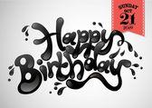 Happy Birthday greetings template — Stock Vector