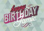 Birthday greetings — Stock Vector