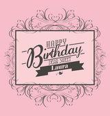 Verjaardag sjabloon — Stockvector