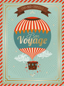 Vintage hot air balloon — Stock Vector