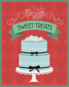 Vintage cake poster — Stock Vector